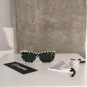 Von Zipper Accessories - Von Zipper: Black & White Polka Dot Sunglasses.